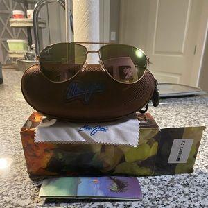 Brand New Maui Jim Rose Gold Maverick Sunglasses